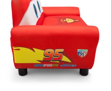 Delta Cars Kindersofa mit Stauraum (Rot)