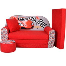 Fortisline Kindersofa Cars mit Hocker