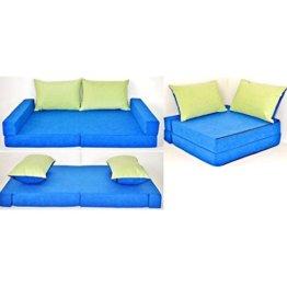neo4kids Eck-Kindersofa blau-grün - 1