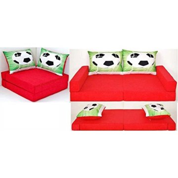 neo4kids Kindersofa Fussball rot - 1