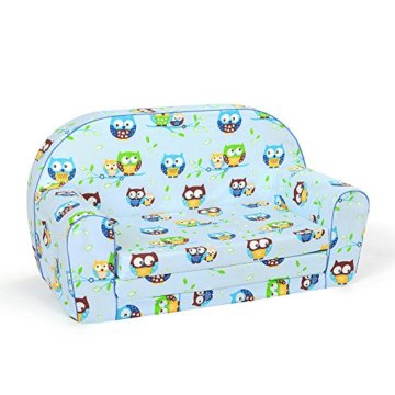 neo4kids Kindersofa Junior Eule blau - 1
