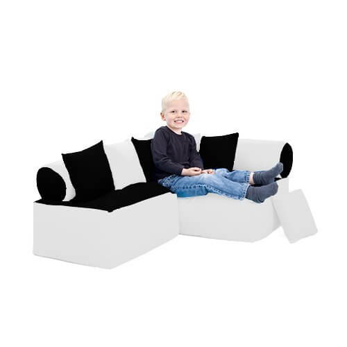 shopsify Eck-Kindersofa weiss - Kindersofas
